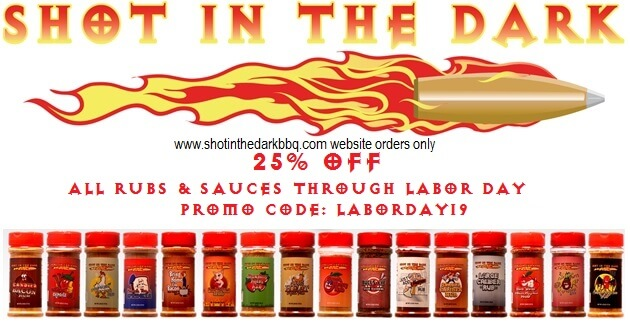 25% off all rubs & sauces for Labor Day